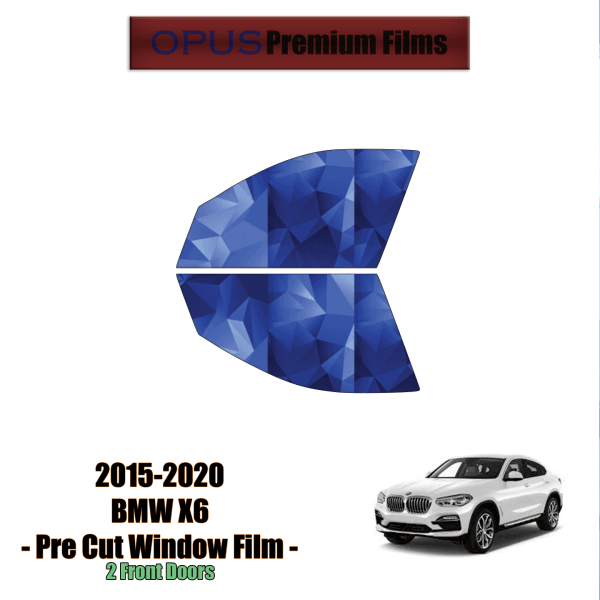 2015 – 2020 BMW X6 – 2 Front Windows (PreCut Window Film)