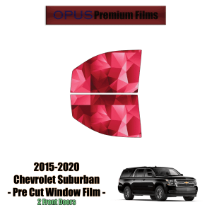2015 – 2020 Chevrolet Suburban – 2 Front Windows Precut Window Tint Kit Automotive Window Film