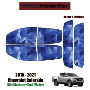 2015 – 2021 Chevrolet Colorado Crew Cab – Full Truck Precut Window Tint Kit Automotive Window Film