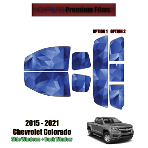 2015 – 2021 Chevrolet Colorado Extended Cab – Full Truck Precut Window Tint Kit Automotive Window Film