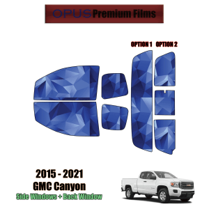 2015 – 2021 GMC Canyon Extended Cab – Full Truck Precut Window Tint Kit Automotive Window Film