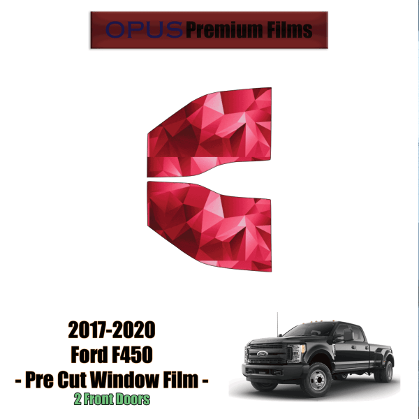 2017 – 2020 Ford F450 2 Front Windows (PreCut Window Film)