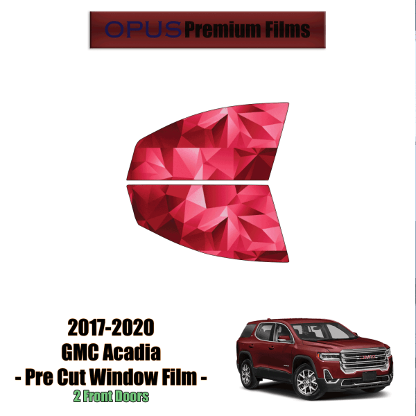 2017 – 2020 GMC Acadia – 2 Front Windows Precut Window Tint Kit Automotive Window Film