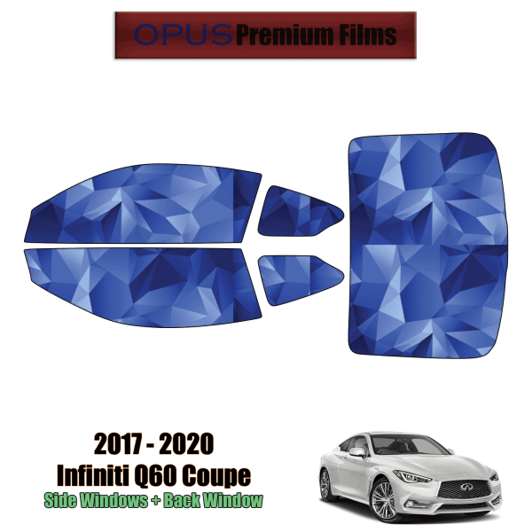 2017 – 2020 Infiniti Q60 – Full Coupe Precut Window Tint Kit Automotive Window Film