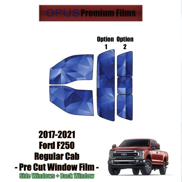 2017 – 2021 Ford F250 Regular Cab – Full Truck Precut Window Tint Kit Automotive Window Film