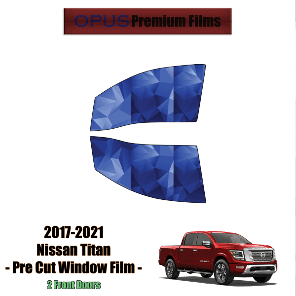 2017 – 2021 Nissan Titan – 2 Front Windows (PreCut Window Film)