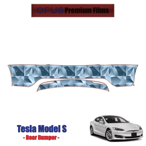 2017 – 2021 Tesla Model S – Precut Paint Protection Kit (PPF) Full Rear Bumper