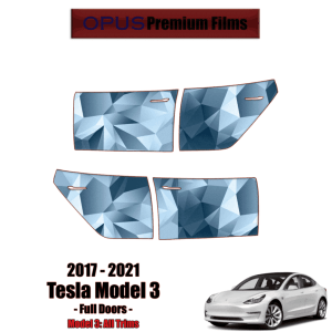 2017 – 2021 Tesla Model 3 Paint Protection Kit – Full 4 Doors