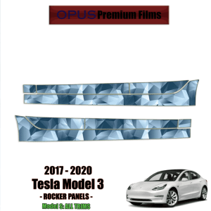 2017 – 2021 Tesla Model 3 – Precut Paint Protection Kit (PPF) Rocker Panels