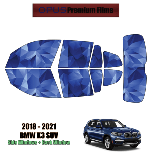 2018 – 2021 BMW X3 – Full SUV Precut Window Tint Kit Automotive Window Film