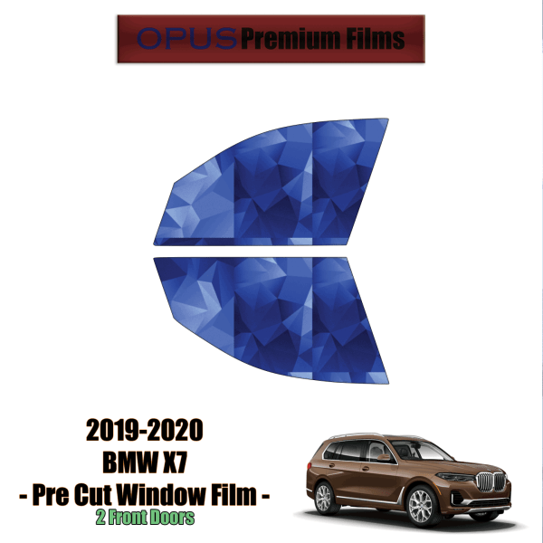 2019 – 2021 BMW X7 – 2 Front Windows Precut Window Tint Kit Automotive Window Film