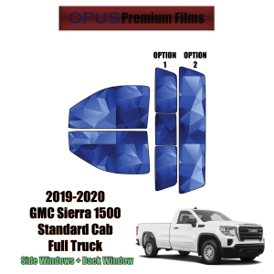 2019 – 2020 GMC Sierra 1500 Standard Cab – Full Truck Precut Window Tint Kit Automotive Window Film