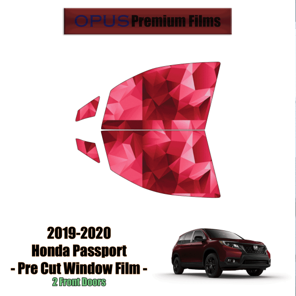 2019 – 2020 Honda Passport – 2 Front Windows Precut Window Tint Kit Automotive Window Film