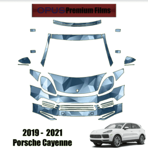 2019 – 2021 Porsche Cayenne – Precut Paint Protection Kit (PPF) Partial Front