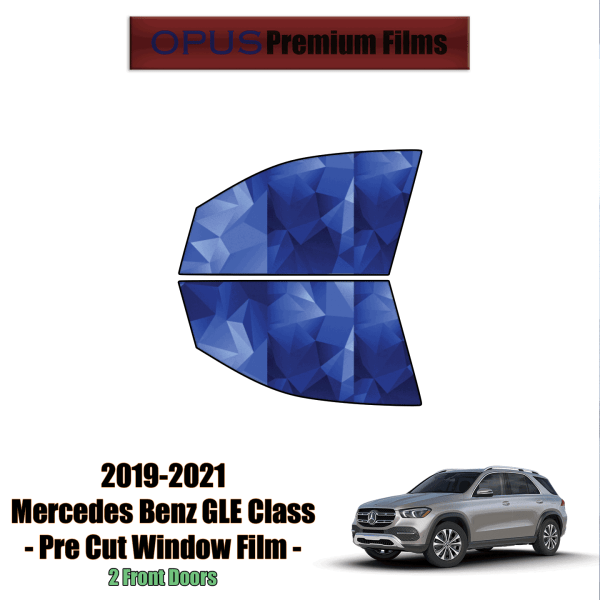 2019 – 2021 Mercedes Benz GLE Class SUV – 2 Front Windows Precut Window Tint Kit Automotive Window Film