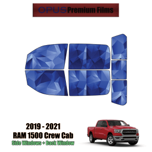 2019 – 2021 RAM 1500 Crew Cab – Full Truck Precut Window Tint Kit Automotive Window Film