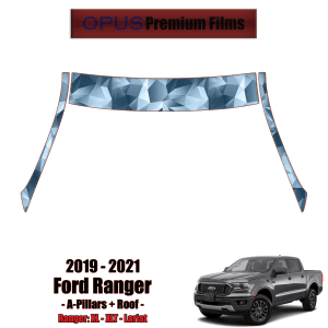 2019 – 2021 Ford Ranger Paint Protection Kit (PPF) – A-Pillars + Roof Top
