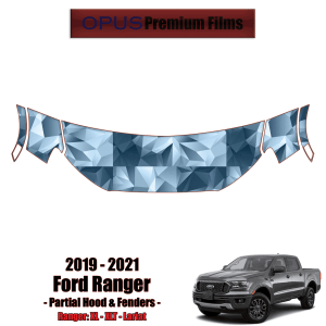 2019 – 2021 Ford Ranger Paint Protection Kit (PPF) – Partial Hood + Fenders