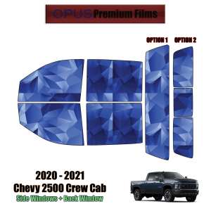 2020 – 2021 Chevrolet Silverado 2500 Crew Cab – Full Truck Precut Window Tint Kit Automotive Window Film