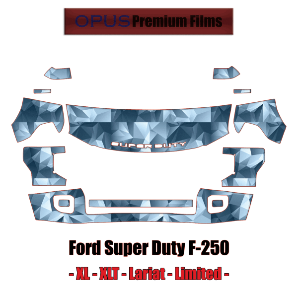 2020 – 2021 Ford F-250 Super Duty XL XLT Lariat Limited Paint Protection Kit (PPF)
