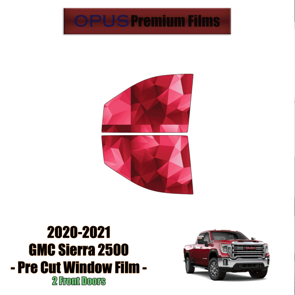 2020 – 2021 GMC Sierra 2500 – 2 Front Windows Precut Window Tint Kit Automotive Window Film