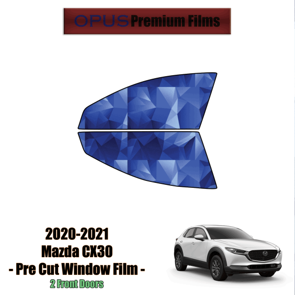 2020 – 2021 Mazda CX-30 – 2 Front Windows Precut Window Tint Kit Automotive Window Film
