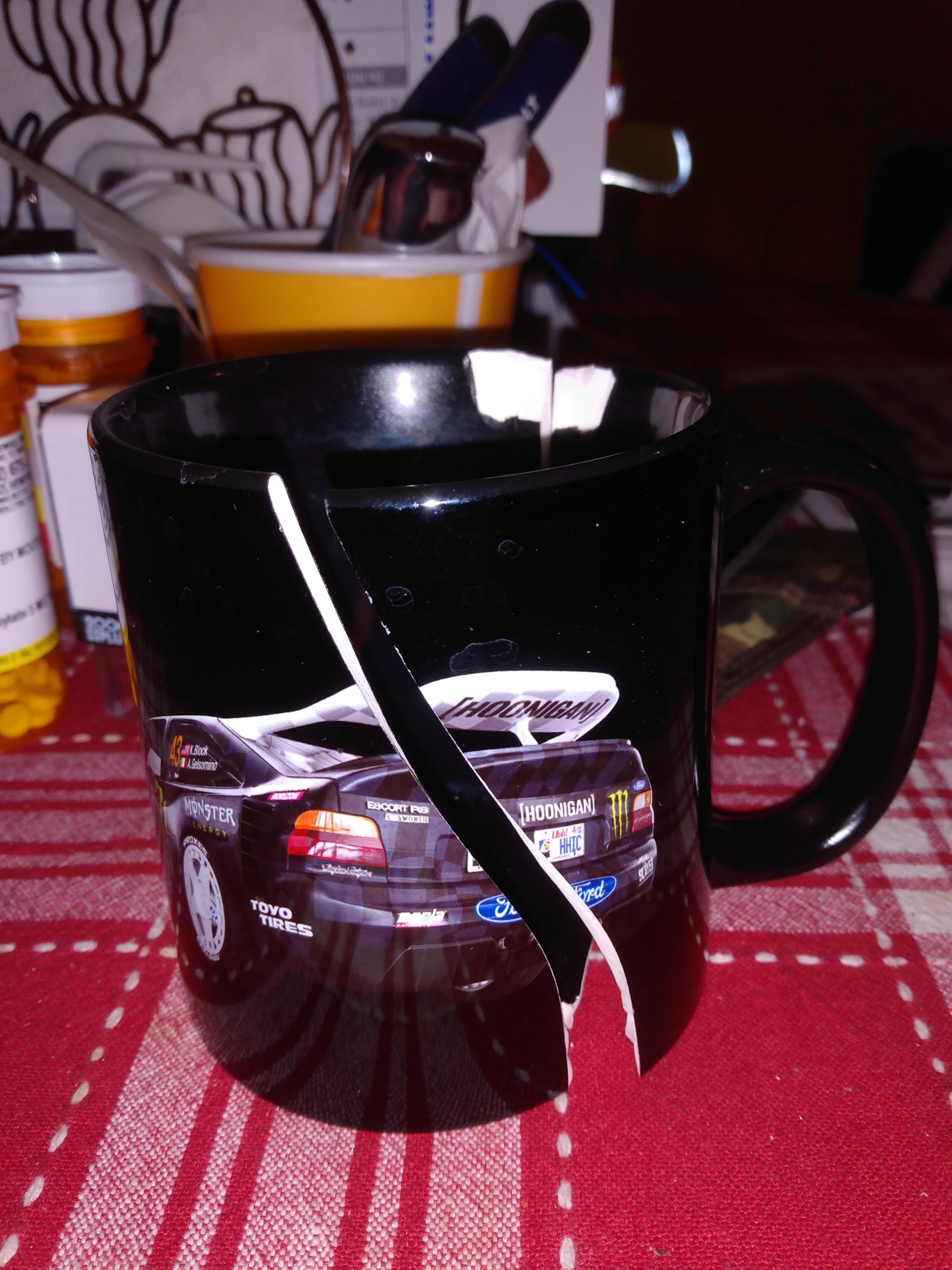 Broken Cossie mug