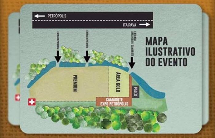 Mapa Expo Petrópolis 2017