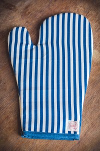 Luva de Forno Listrada detalhe Azul
