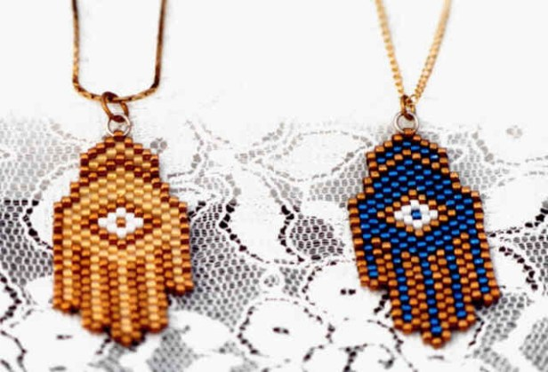 Esther Liberman Hamsa Pendents