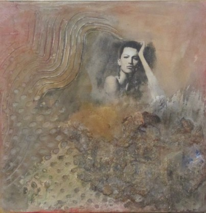 """Sharon Segal -mix media, acrylic and plaster All 8"""" x 8"""""""