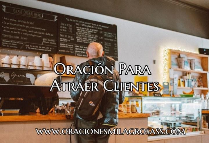 oración para atraer clientes a un negocio