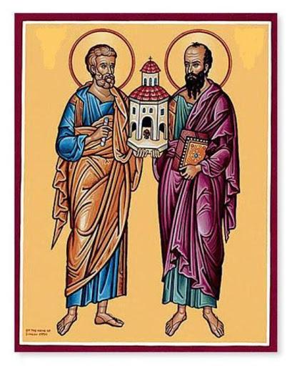 Oraciones a los santos apóstoles supremos Pedro y Pablo