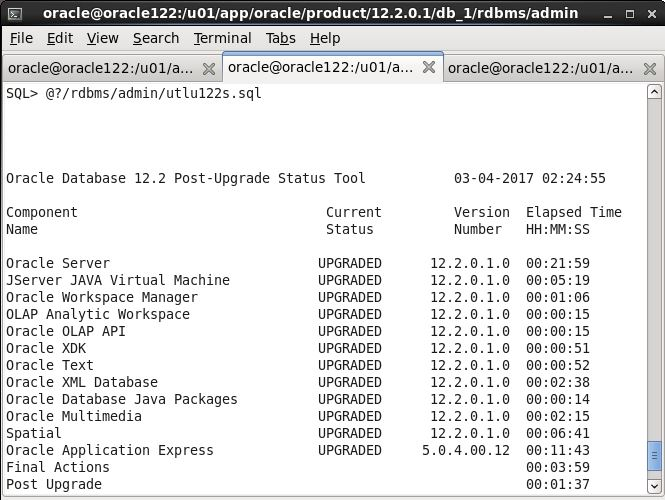 Manual upgrading Oracle database 11gR2 to 12cR2 - ORACLE-HELP