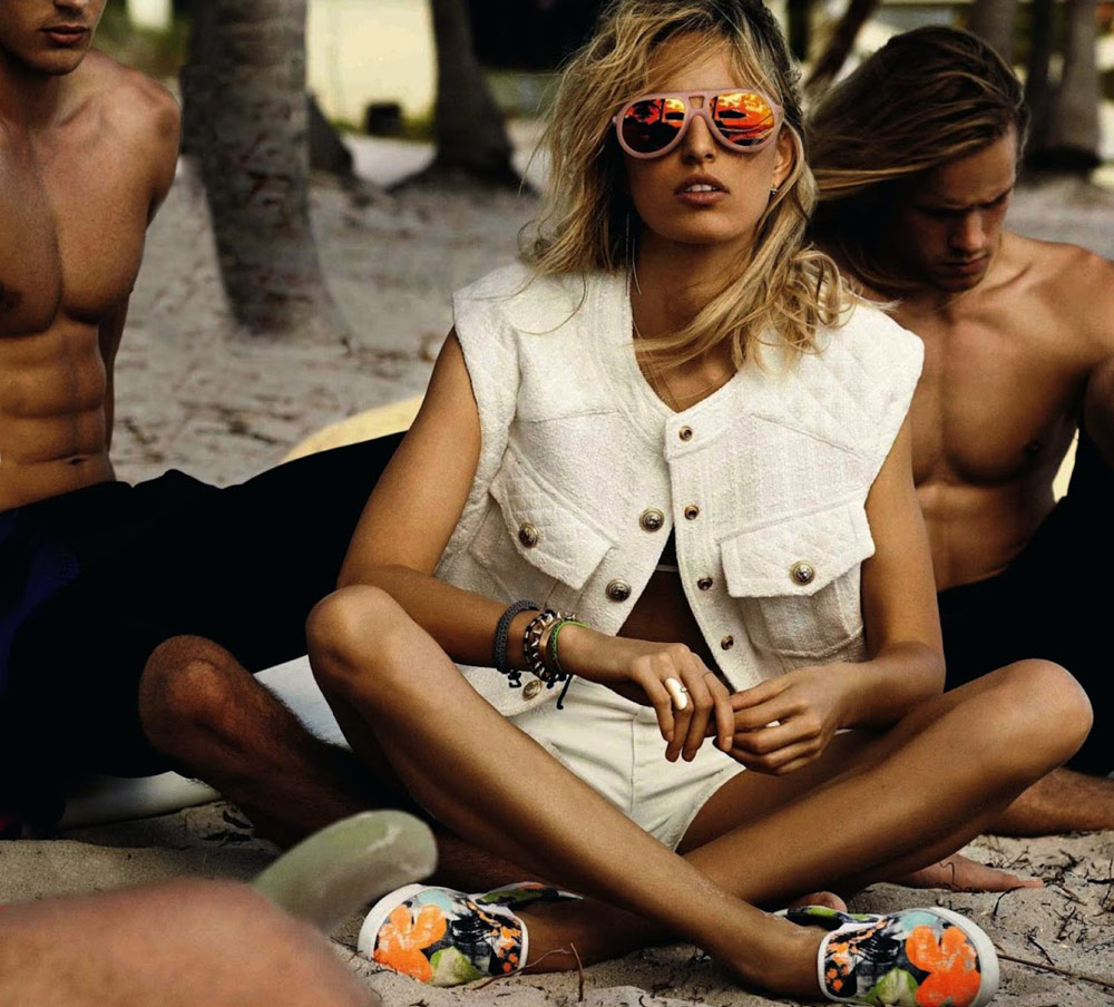 karolina kurkova giampaolo sgura vogue spain editoiral june july 2014 beach bikini swim swimwear editorial mexico oracle fox oraclefox
