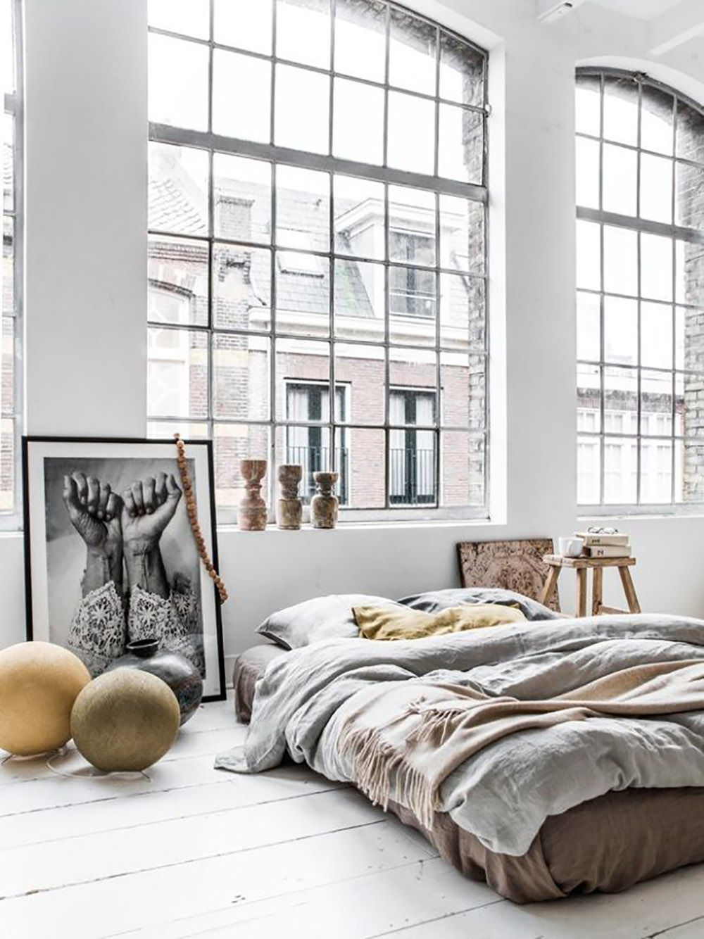 White, Home, Interior, Industrial, Inspiration, Bedroom, Living Room, Oracle Fox