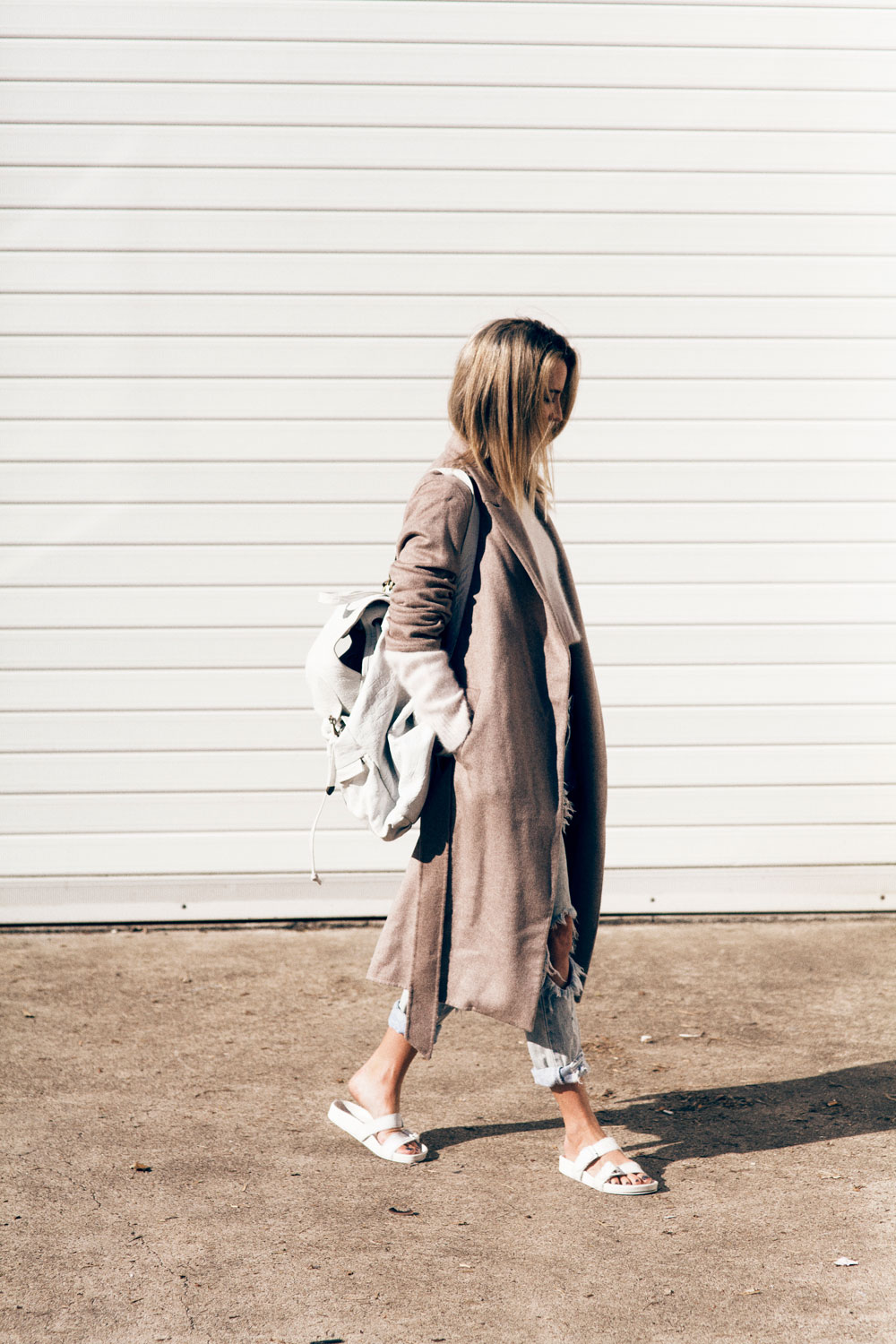 Beige, Camel, Duster, Coat, One, Teaspoon, ripped, denim, jeans, topshop, crop, top, pink, white, backpack, slides, oracle, fox, outfit,