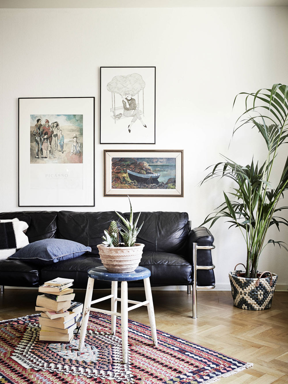 oracle, fox, sunday, sanctuary, danish, home, minimal, house, tour, white, living, room, house, plants