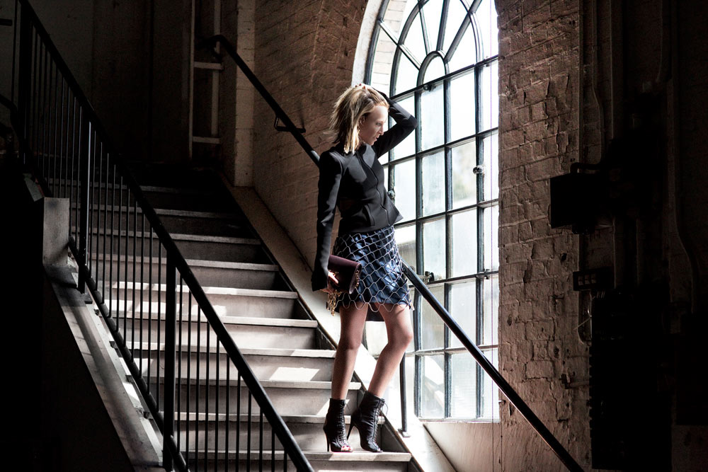 Dion Lee, Dion Lee Jacket, Fashion Week, MBFWA, Dion Lee Skirt, outfit, arch window, shoot, camilla & marc , camilla & marc shoes,