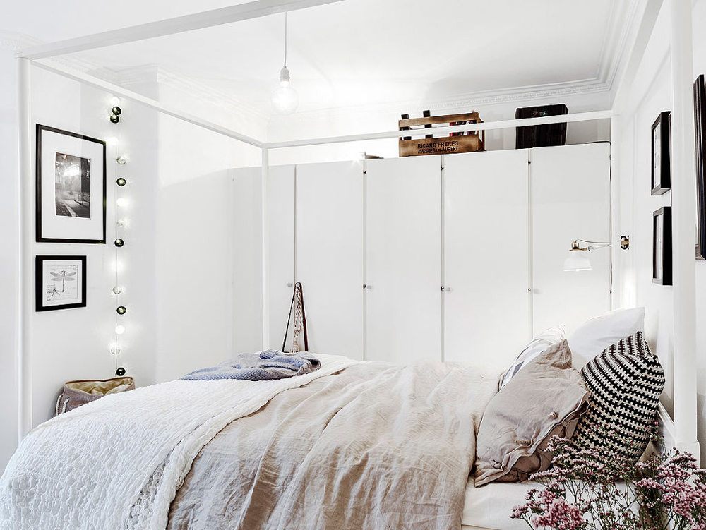 Oracle, Fox, Sunday, Sanctuary, At, Ease, Monochrome, Scandinavian, Interior, Living Room, Brass, Lights, Bedroom, Plush, Bed