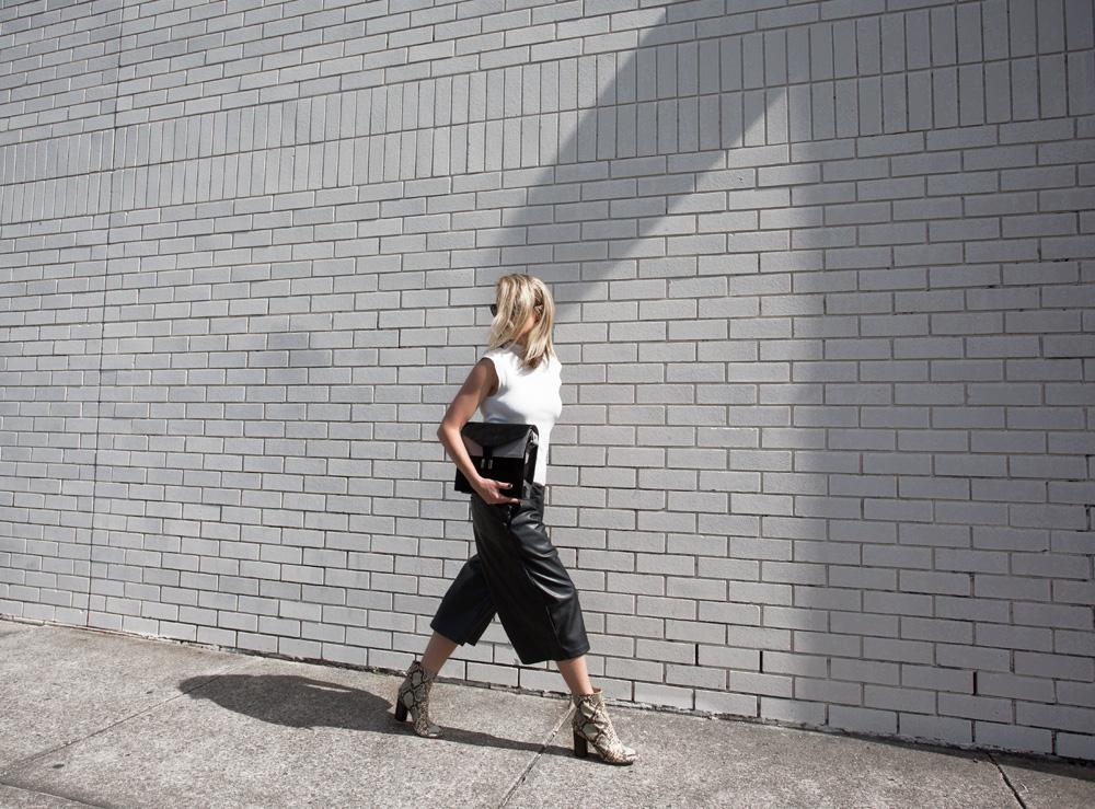 snakeskin, boots, python boots, amanda kendall bag, black bag, isabel marant, leather culottes