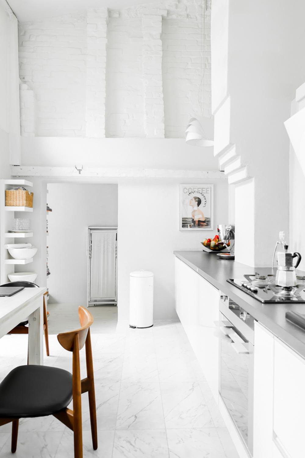 Oracle, Fox, Sunday, Sanctuary, Polish, Farmhouse, White, Minimalist, Interior, Indoor, Plants, Scandinavian, Style, Living, All, White, Kitchen