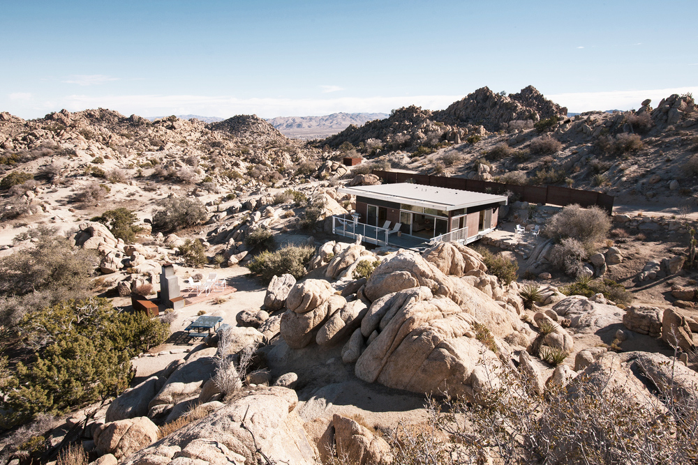 Oracle, Fox, Sunday, Sanctuary, The, Rock, Reach, House, Desert, Modernism, Living, Room, Exterior, Rock, Formation