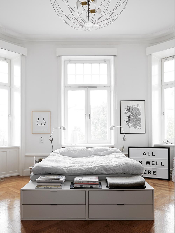 Oracle, Fox, Sunday, Sanctuary, Boy, Meets, Girl, Scandinavian, Interior, White, Bedroom