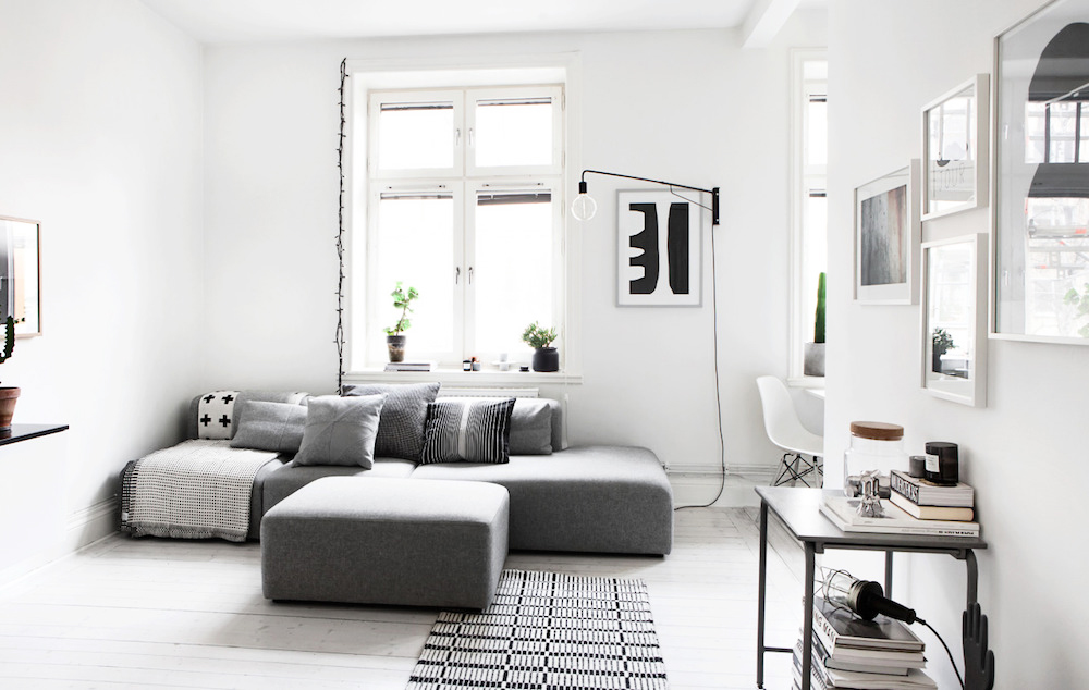 fantastic frank, swedish apartment, home interiors, oracle fox, Sunday Sanctuary, monochrome, Scandinavian, Home tour