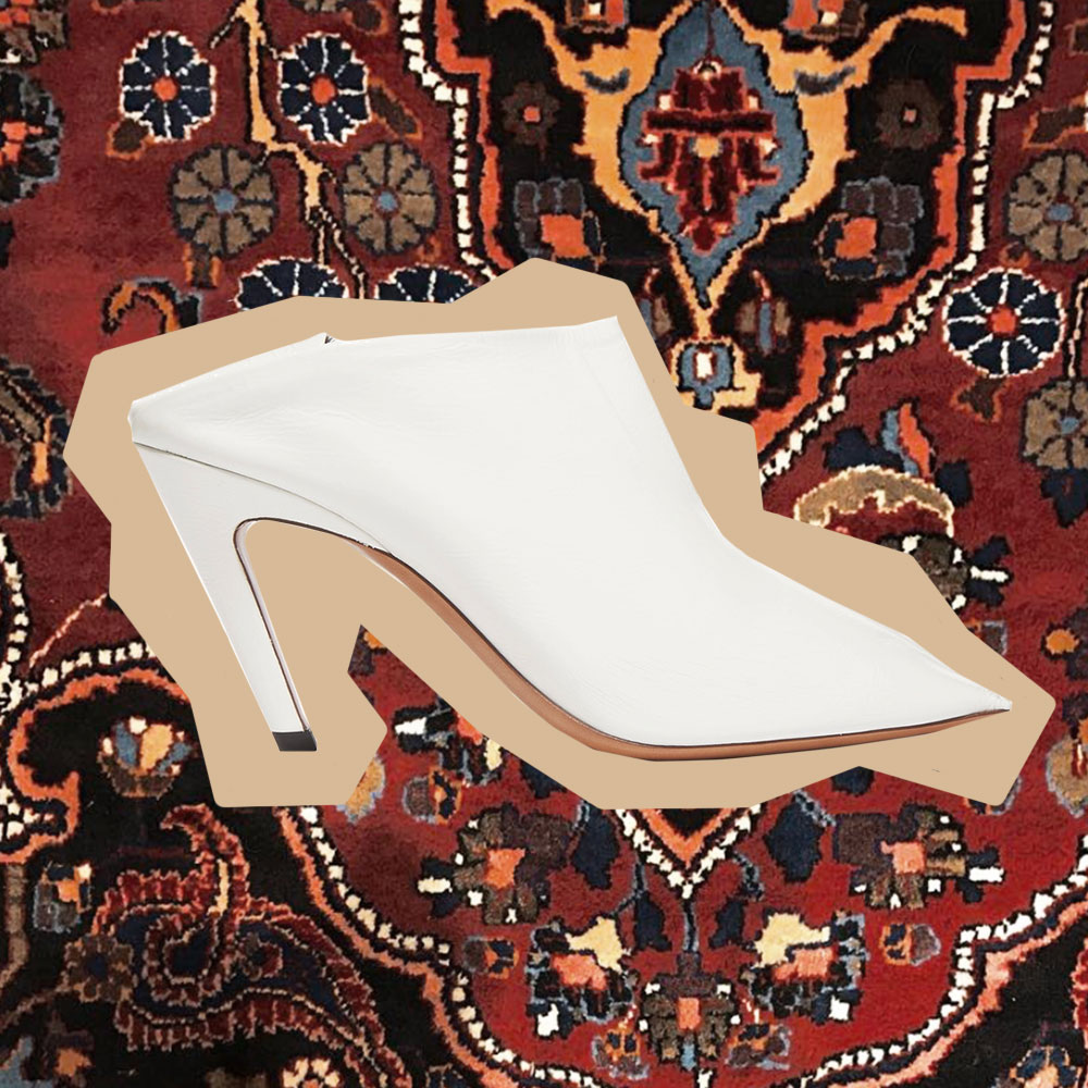 Balenciga, white, mule, outfit, collage, Oracle, Fox, moroccan, rugs