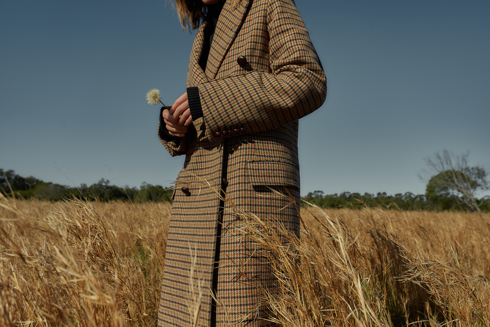 Winter Coat, Plaid coat, Joseph, Matches Fashion, winter outfit, balenciaga bag, vestments jeans, amanda shadforth