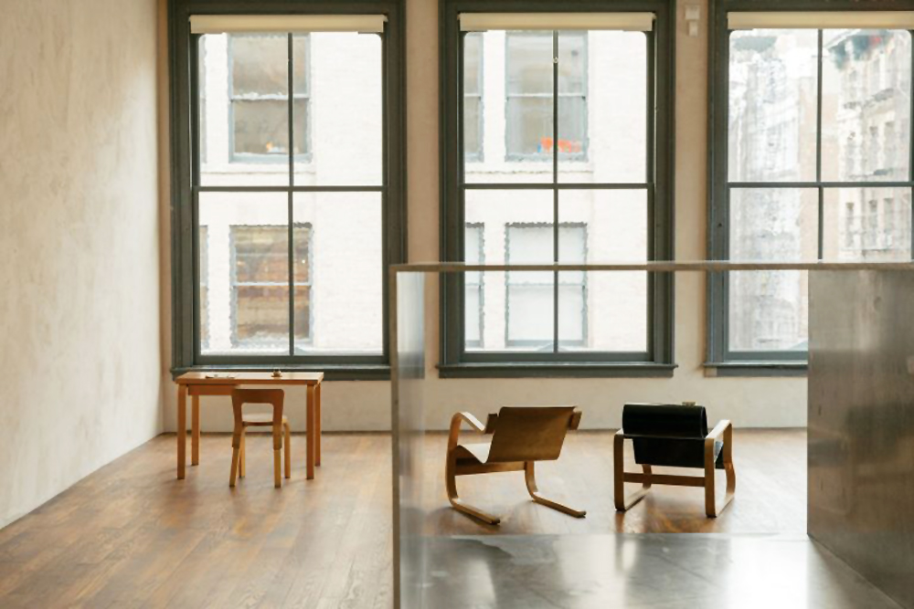 Donald Judd, Judd Foundation, interiors, sunday sanctuary, oracle fox, lounge, dining, room