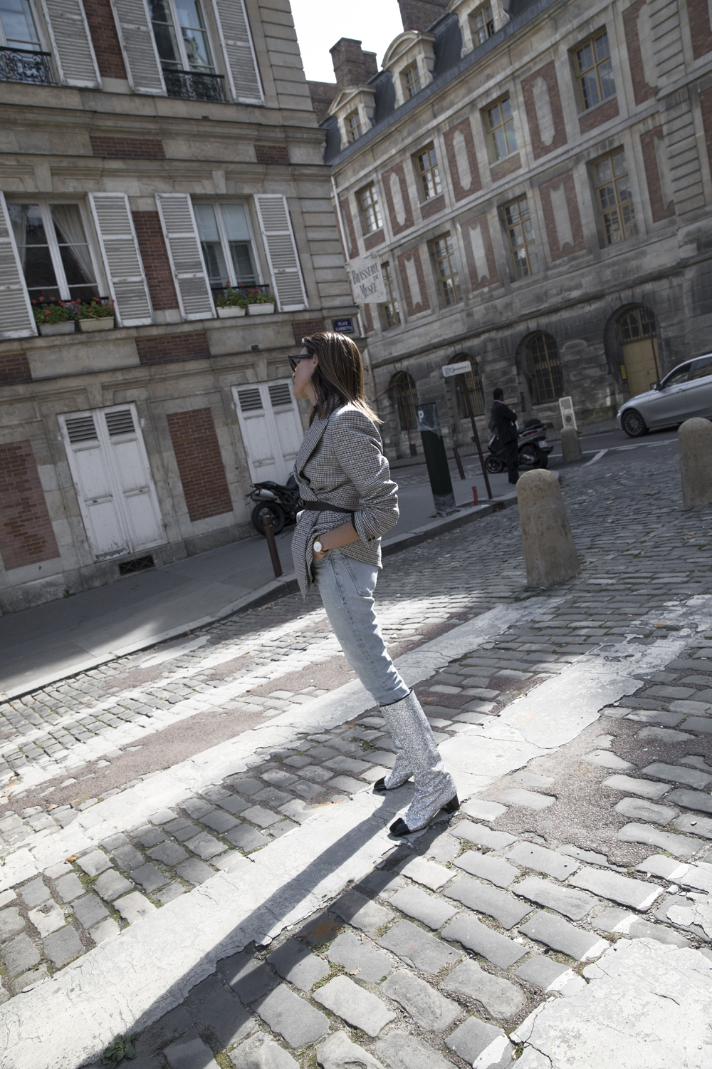 Chanel, Boots, Paris, Fashion, Week, Outfit  Inspiration, Denim, Blazer, Oracle, Fox