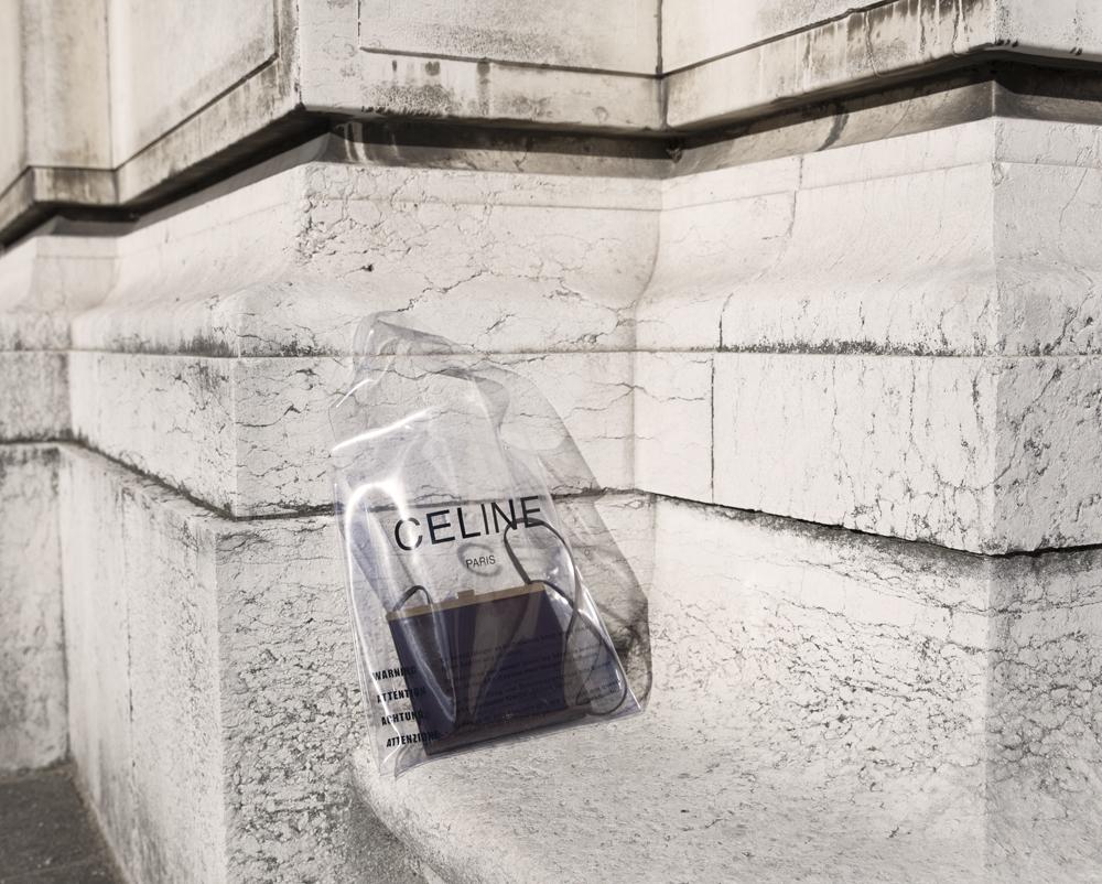 Celine, Spring Summer, 2018, Suit, Shoes, Plastic Bag, Sunglasses, Paris,
